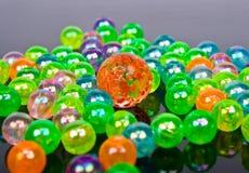 Multi-colored glass bollar Royaltyfria Foton