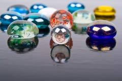 Multi-colored glass bollar Royaltyfri Fotografi