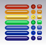 Multi-colored glass buttons for your site. Royalty Free Stock Images