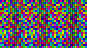 Multi colored Glass Squares Background. A full frame background made up of many multi-colored glass squares Royalty Free Stock Photography
