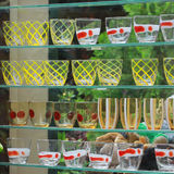 Multi Colored glassware on sale Royalty Free Stock Image