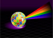Multi Colored Globe Royalty Free Stock Image