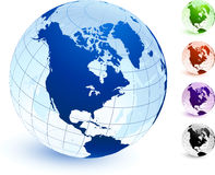 Multi Colored Globe set Royalty Free Stock Image