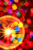 Multi-colored gloeiende achtergrond. Kerstkaart. Royalty-vrije Stock Foto