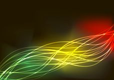 Multi-colored gloeiende lijnen in Rastaman-stijl stock illustratie