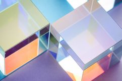 Free Multi-colored Glowing Glass Cubes Symmetry, Abstract Colorful Background Stock Photos - 149421103