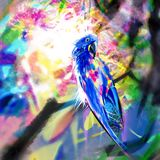 Multi-colored good and beautiful parrot vector illustration
