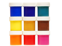 Multi-colored gouache paint Royalty Free Stock Photo