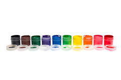 Multi-colored gouache paint isolated Stock Image