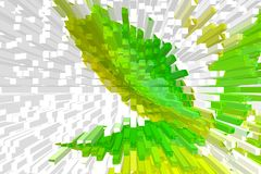 Multi-colored, green and white background, beautiful volume abstraction royalty free stock images