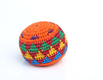 Multi-colored hackysack Stock Photography