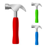 Multi-colored hammers Stock Photo