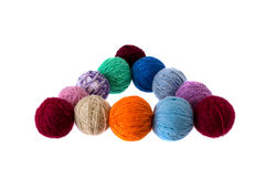 Multi-colored hanks of threads royalty free stock photography