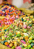 Multi-colored heap of spices Stock Photos