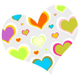 Multi colored heart Royalty Free Stock Photos