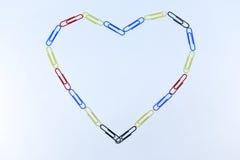 Multi-colored heart symbol Stock Photography
