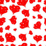Multi-colored hearts on a light background.Seamless.Vector Stock Photos