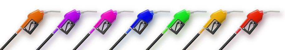 Multi-colored het vullen kanon van de kanonnenbenzine of olieautomaat 3D Illustratie Op witte achtergrond vector illustratie