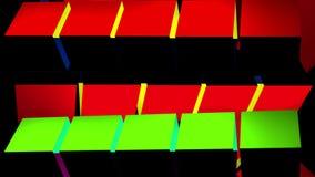 Multi Colored Horizontal Rotating Pillar Loop stock video