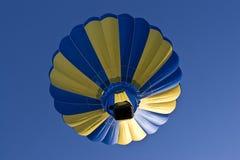 Multi-colored hot air ballon Stock Photos