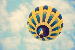 Multi colored hot air balloon Stock Photo