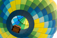 Multi colored hot air balloon Stock Photography