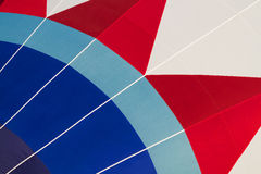 Multi colored hot air balloon view from inside Royalty Free Stock Photography