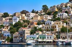 Symi island houses Royalty Free Stock Image