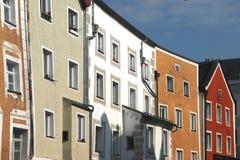 Multi-colored huizen Royalty-vrije Stock Afbeeldingen