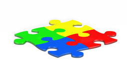 Multi colored jigsaw pieces Royalty Free Stock Image