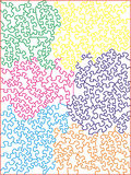 Multi-colored Jigsaw Puzzle Pattern. This is a multi-colored pattern for a complex jigsaw puzzle royalty free illustration