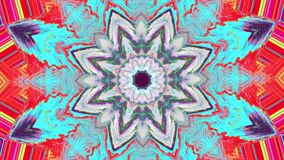 Multi-colored kaleidoscope light transformations shimmering background.