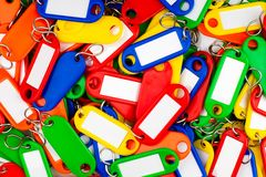 Multi colored key rings Royalty Free Stock Photos