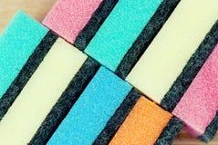 Multi colored kitchen sponges Stock Photo
