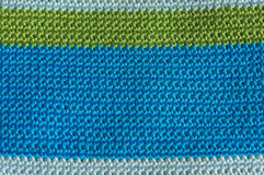 Multi-colored knitting striped background Stock Photography