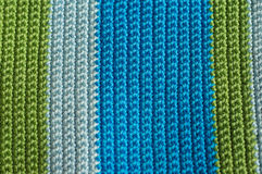 Multi-colored knitting striped background Royalty Free Stock Image