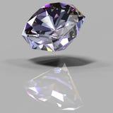 Multi-colored kristal met een bezinning Stock Fotografie