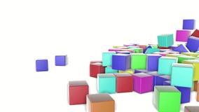Multi-colored kubussendaling op een witte achtergrond geanimeerd 3d geef terug vector illustratie
