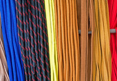 The multi-colored laces Royalty Free Stock Images