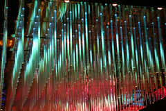 Multi-colored LED lights. LED light installation at en upscale bar or night club royalty free stock photo