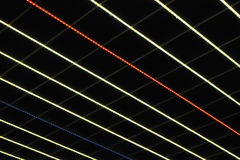Multi-colored led lights. Glowing multi-colored led lights on the diagonal Royalty Free Stock Photos