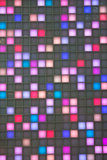 Multi-colored lights. Rectangular gap in many colors Stock Photos