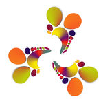 Multi colored logo. A multi colored logo on a solid background Stock Photo