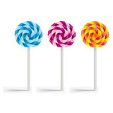 Multi-colored lollipops Stock Photography