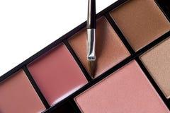 Multi colored make-up, brush Stock Photos