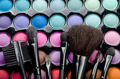 Multi colored make-up set Royalty Free Stock Image