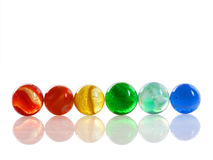 Multi-colored Marbles Royalty Free Stock Photos