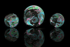 Multi-Colored Marbles Stock Images