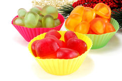 Multi colored marmalade candy Stock Photography