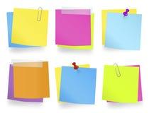 Multi-Colored Memoranda op een rij vector illustratie